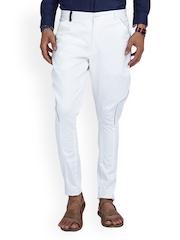 MR BUTTON Men White Jodhpuri Pants