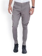 MR BUTTON Men Grey Linen Jodhpuri Pants