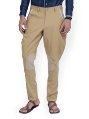 MR BUTTON Men Beige Linen Jodhpuri Pants