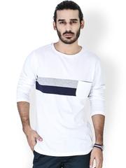 MR BUTTON Men White T-Shirt