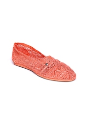 Mad Love Women Coral Orange Lydia Flat Shoes