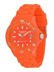 Madison New York Unisex Orange Dial Watch U4503-51/1