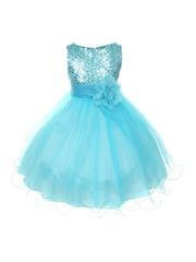 Magic Fairy Girls Blue Fit & Flare Dress