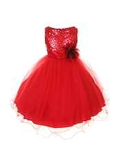 Magic Fairy Girls Red Fit & Flare Dress