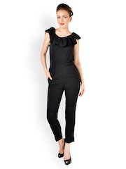 Magnetic Designs Women Black Jumpsuit