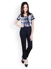 Magnetic Designs Women Navy Printed Jumpsuit