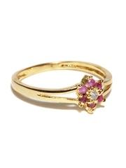 Mahi Gold-Toned Studded Ring