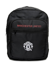 Manchester United Men Black Backpack