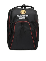 Manchester United Men Black Backpack