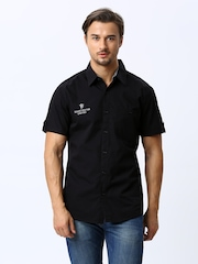 Manchester United Men Black Casual Shirt