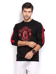 Manchester United Men Black Printed Sweatshirt