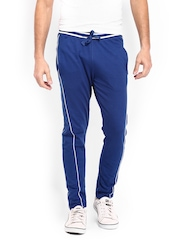 Manchester United Men Blue Printed Track Pants