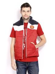 Manchester United Men Red Sleeveless Jacket
