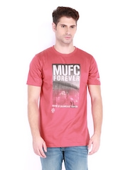 Manchester United Men Pink T-shirt