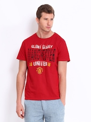 Manchester United Men Red Printed T-shirt