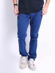 Manchester United Men Blue Slim Fit Trousers