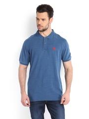 Manchester United Men Blue Polo T-shirt