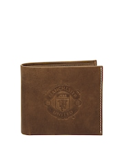 Manchester United Men Brown Leather Wallet