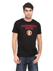 Manchester United Men Black Printed T-shirt
