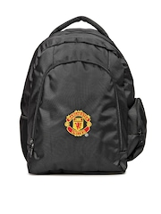 Manchester United Unisex Black Backpack