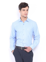 Mark Taylor Men Blue Formal Shirt