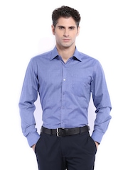 Mark Taylor Men Blue Formal Shirt