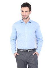 Mark Taylor Men Blue Slim Fit Formal Shirt