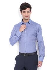 Mark Taylor Men Blue Slim Fit Formal Shirt