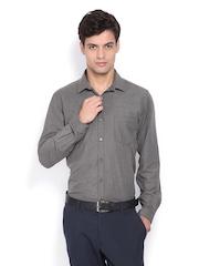 Mark Taylor Men Charcoal Grey Slim Fit Formal Shirt