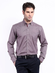 Mark Taylor Men Grey Slim Fit Formal Shirt