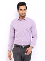 Mark Taylor Men Pink & White Checked Slim Fit Formal Shirt