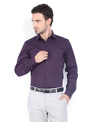 Mark Taylor Men Purple Slim Fit Formal Shirt