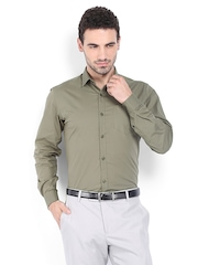 Mark Taylor Men Olive Green Slim Fit Formal Shirt