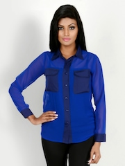 Martini Women Blue Shirt