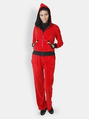 Martini Women Red Hooded Tracksuit