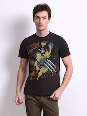 Marvel Men Brown X-Men Printed T-shirt