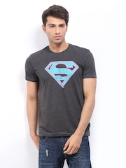 DC Comics Men Dark Grey Superman Print T-shirt