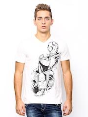 Marvel Men Off-White Printed T-shirt