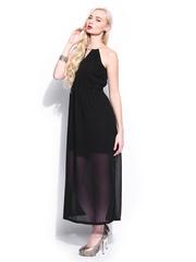 Mast & Harbour Black Maxi Club Dress