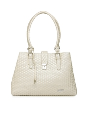 Mast & Harbour Cream-Coloured Shoulder Bag