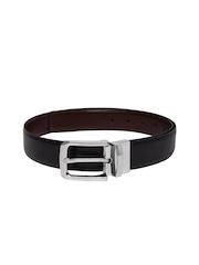 Mast & Harbour Men Black & Brown Reversible Leather Belt