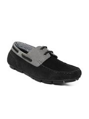 Mast & Harbour Men Black Boat Shoes
