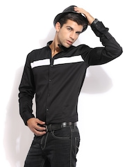 Mast & Harbour Men Black Club Casual Shirt