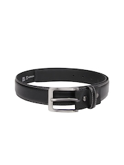Mast & Harbour Men Black Leather Belt