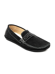 Mast & Harbour Men Black Suede Loafers
