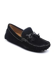 Mast & Harbour Men Black Leather Loafers