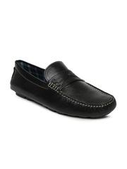 Mast & Harbour Men Black Leather Loafers