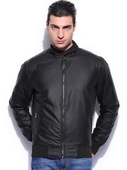 Mast & Harbour Men Black Padded Club Jacket
