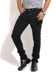 Mast & Harbour Men Black Skinny Fit Club Jeans