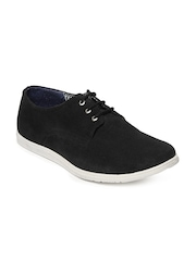 Mast & Harbour Men Black Suede Casual Shoes